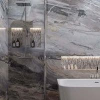 Multipanel Classic Cappuccino Stone 1200mm Hydrolock Shower Wall Panel